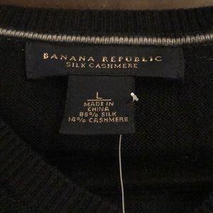 Banana Republic Silk Cashmere V-Neck Sweater